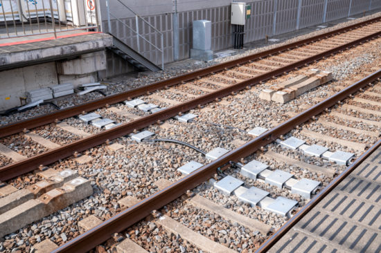 C-ATS化にむけて工事中の新柴又駅