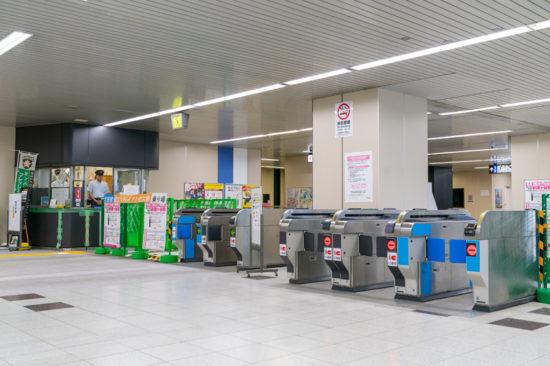 6月16日初電時点の新鎌ヶ谷本屋口。