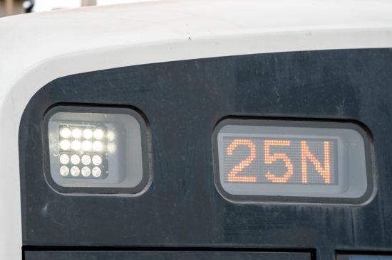 LED前照灯となった9201編成