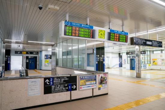 小室駅コンコース